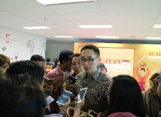 Co-Founder KoinWorks, Benedicto Haryono memberikan penjelasan tentang KoinWorks - Paket Kebijakan Ekonomi Bagi E-Commerce Indonesia