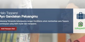 KoinWorks The Connection That Works - Gandakan Peluangmu with Tokopedia