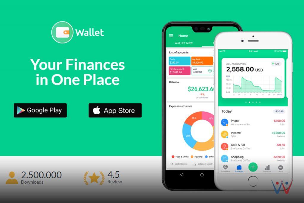 aplikasi pengelola keuangan - wallet