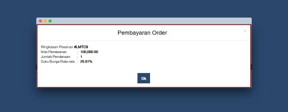 pembayaran order multi auto purchase