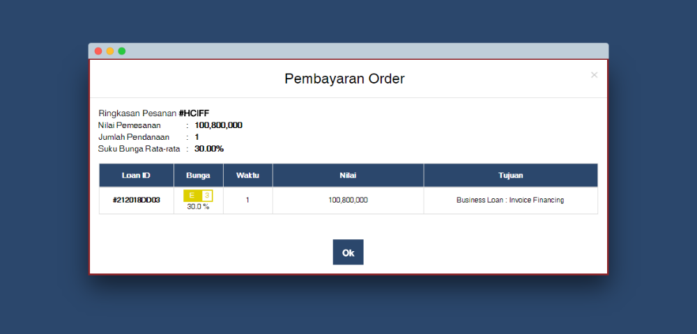 pembayaran order - purchase - lunas - beli