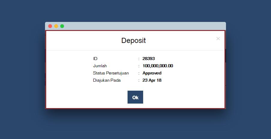 pop up deposit
