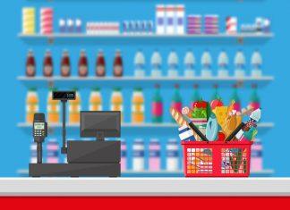 super market swalayan kasir - toko swalayan