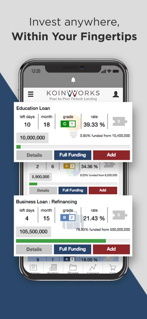 aplikasi KoinWorks android ios Browse-Loan