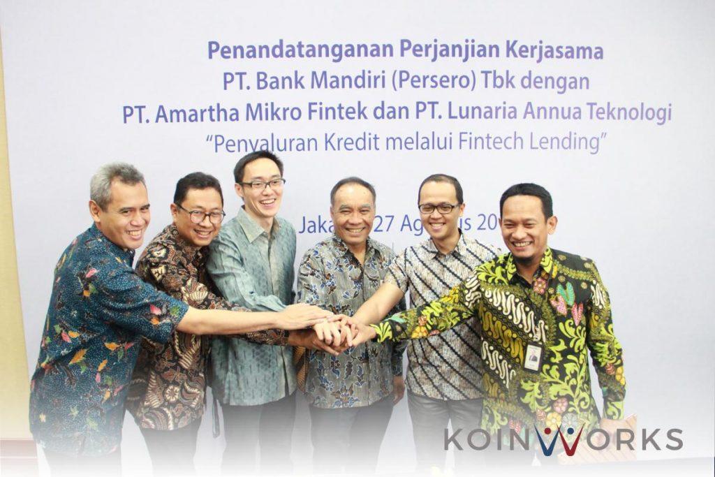 Bank Mandiri menggandeng KoinWorks dan Amartha