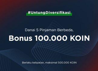 Promo Spesial Danai 5 Pinjaman Berbeda, Dapat 100.000 KOIN Gratis