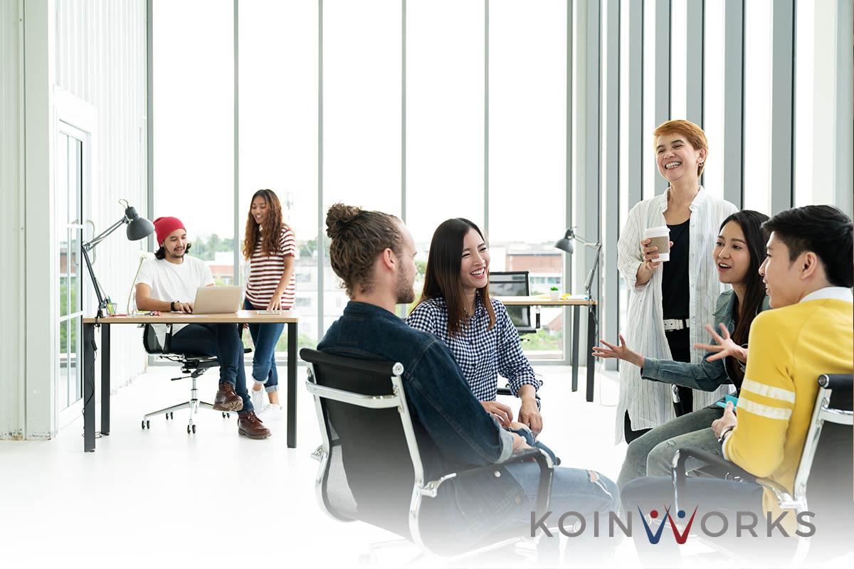 kerja sama kantor nyaman diskusi