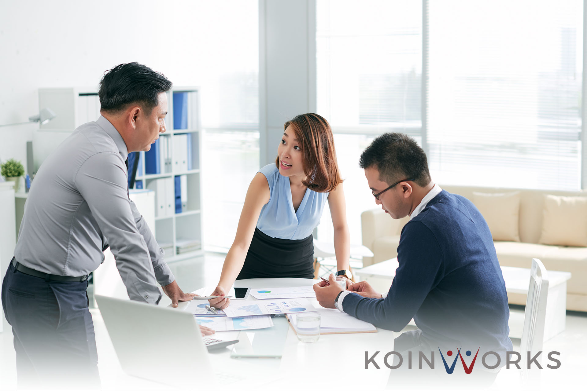 meeting kerja kantor pemimpin manajer