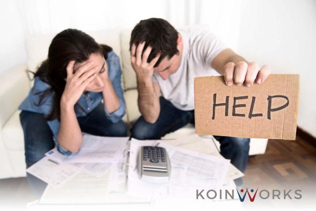 pasangan - utang - kredit - pinjaman