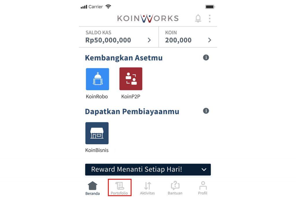 koinworks - portofolio