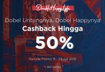 promo double happy lyfe-cashback-50%-untung-happy