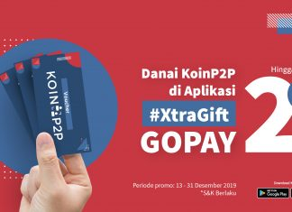 [PROMO] Danai KoinP2P di Aplikasi, #XtraGift GoPay Hingga 2 Juta!