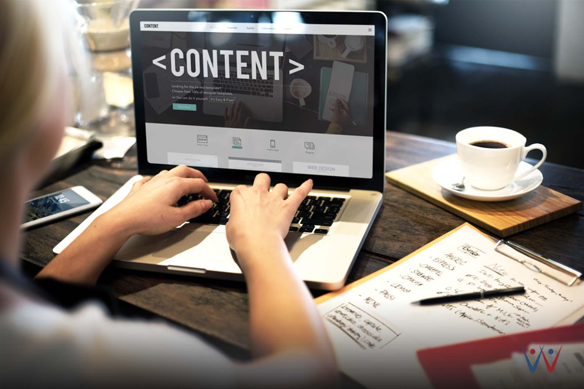 konten - laptop - strategi marketing