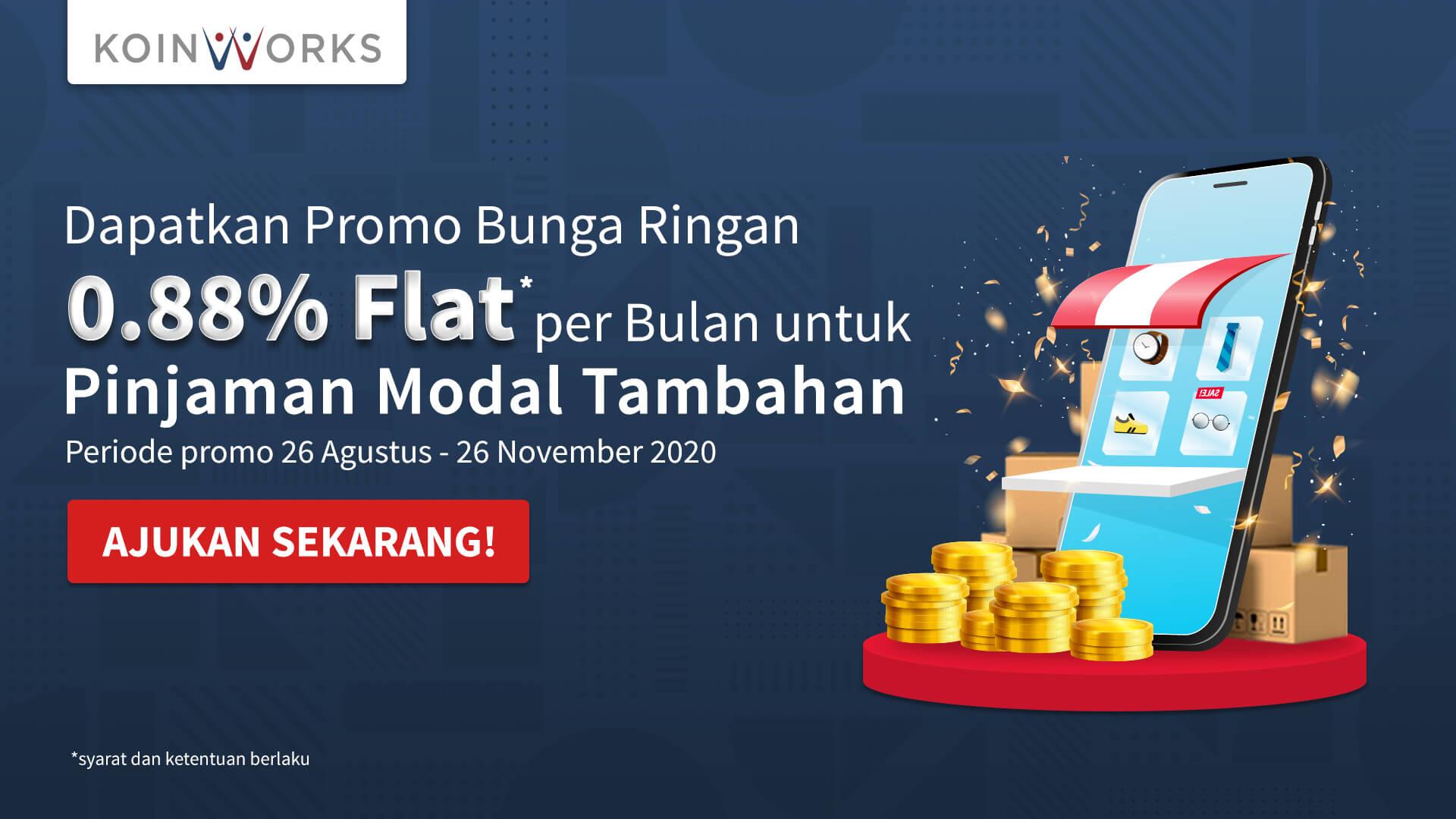 promo pinjaman tambahan modal bisnis dengan bunga ringan dari KoinWorks