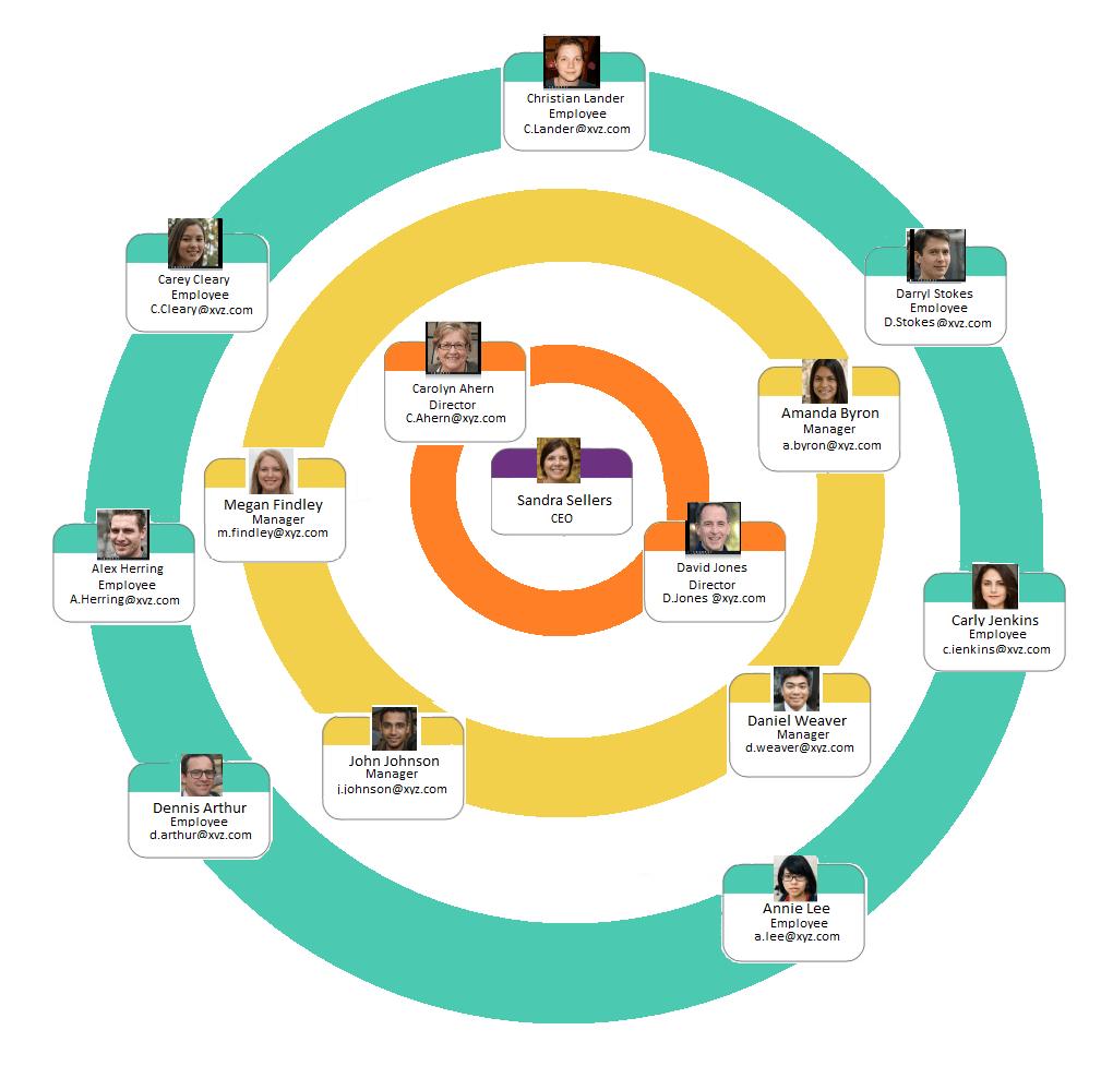struktur organisasi tipe lingkaran